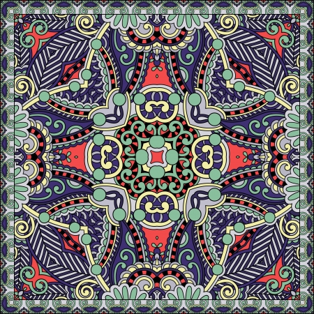 Traditional ornamental floral paisley bandanna. You can use this pattern in the design of carpet, shawl, pillow, cushion Stock Vector - 21881647