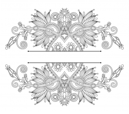 vintage ethnic ornamental template Vector