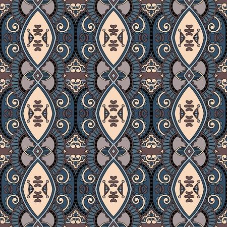 seamless floral: geometry vintage floral seamless pattern