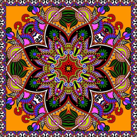 Traditional ornamental floral paisley bandanna.  일러스트