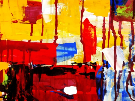 acrylic painting: abstract hand draw acrylic painting composition