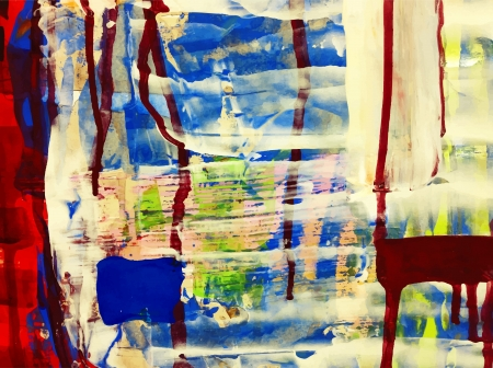 tempera: abstract hand draw acrylic painting composition