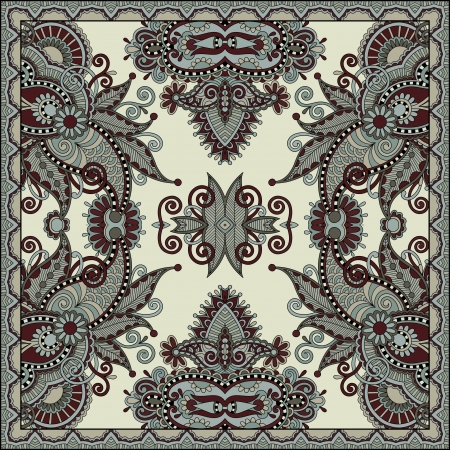 Traditional ornamental floral paisley bandanna. Stock Vector - 22499684