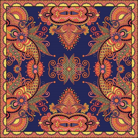 Traditional ornamental floral paisley bandanna.   Stock Vector - 22499686