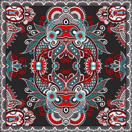 Traditional ornamental floral paisley bandanna. Stock Vector - 22499695