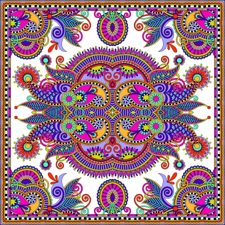 Traditional ornamental floral paisley bandanna. You can use this pattern in the design of carpet, shawl, pillow, cushion Stock Vector - 22567168