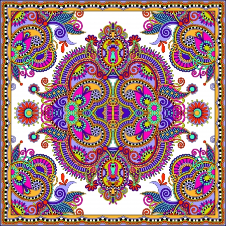 Traditional ornamental floral paisley bandanna. You can use this pattern in the design of carpet, shawl, pillow, cushion Stock Vector - 22567223