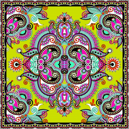 Traditional ornamental floral paisley bandanna. You can use this pattern in the design of carpet, shawl, pillow, cushion Stock Vector - 22567220