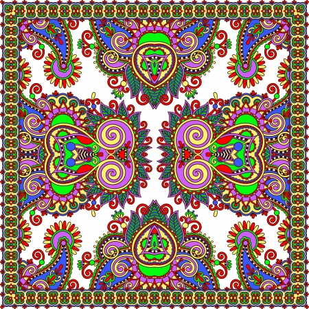 Traditional ornamental floral paisley bandanna. Stock Vector - 23329440