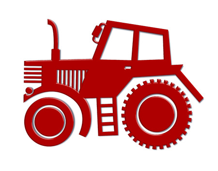 wheeled tractor: tractor car icon Illustration