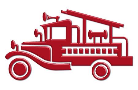 voiture de pompiers: voiture de camion de pompiers icône Illustration