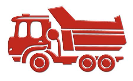 motor vehicle:  heavy car icon Illustration