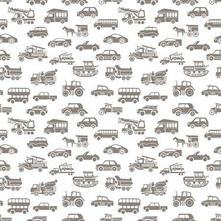 vector seamless car pattern Vector