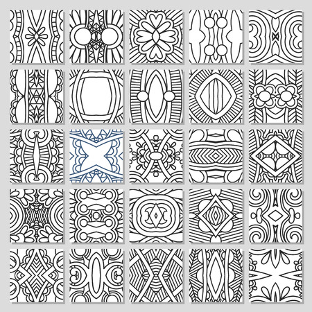 symmetric: 25 seamless pattern collection Illustration