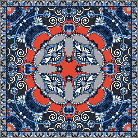 bandanna: Traditional ornamental floral paisley bandanna
