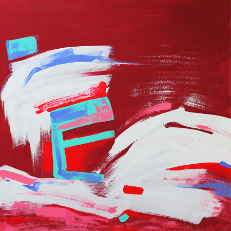 acrylic painting: Unusual  original art composition of abstract background. Autotrace image. Vector illustration. Acrylic painting