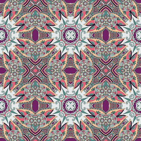 geometry vintage floral seamless pattern, ethnic style, you can use for packaging, textile design or scrapbooking