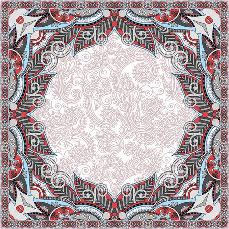old book cover: floral vintage frame, ukrainian ethnic style