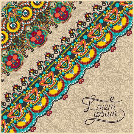 ornamental background: ornamental background with flower ribbon