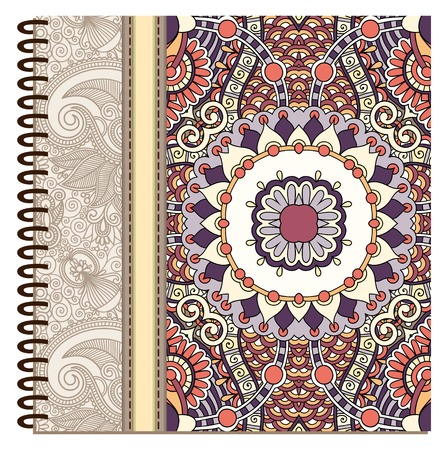 spiral notebook: design of spiral ornamental notebook cover. Illustration