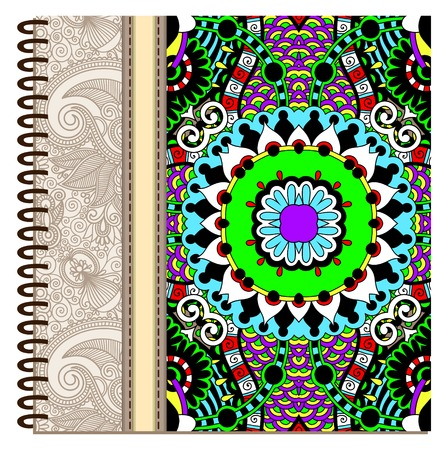 spiral notebook: design of spiral ornamental notebook cover. Illustration