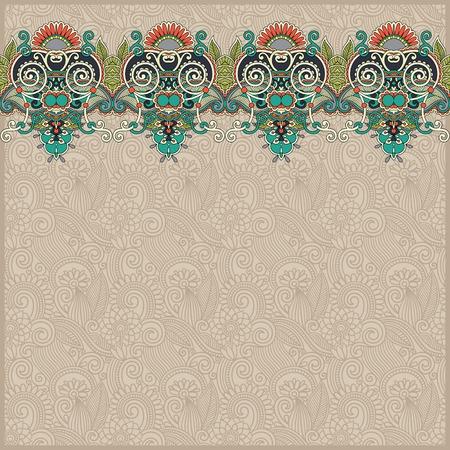 stripe pattern: sfondo ornamentale con nastro fiore, motivo a strisce, biglietto di auguri, illustrazione Vettoriali