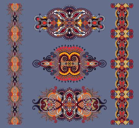adornment: ornamental floral adornment in karakoko style, illustration