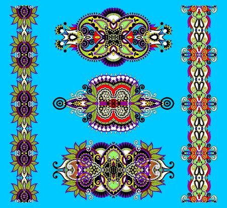 adornment: ornamentale ornamento floreale in stile karakoko, illustrazione