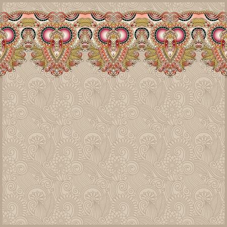 arabic motif: ornamental background with flower ribbon, stripe pattern, greeting card, vector illustration