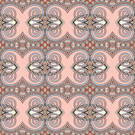 filigree background: seamless geometry vintage pattern, ethnic style ornamental background, ornate floral decor for fabric design, endless texture
