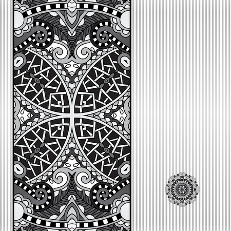 floral grey geometric background, vintage ornamental design template for card, book, postcard, ethnic style invitation and greeting card, beautiful retro brochure, geometric background in vintage style Vector