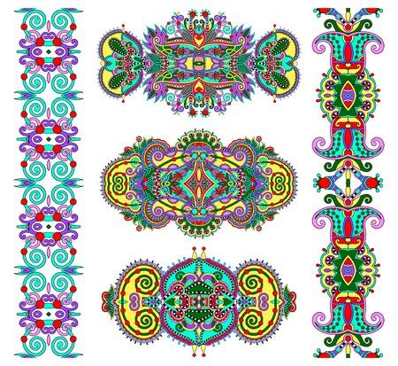 adornment: ornamentale decorativo etnico ornamento floreale, illustrazione vettoriale Vettoriali