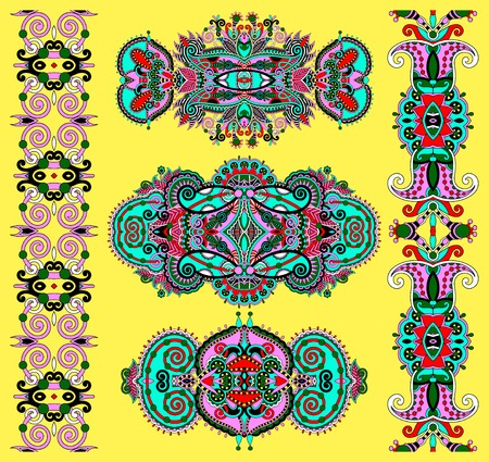 adornment: ornamental decorative ethnic floral adornment, vector illustration