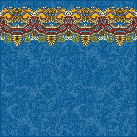 ornamental background with flower ribbon, stripe pattern, greeting card, vector version Vector