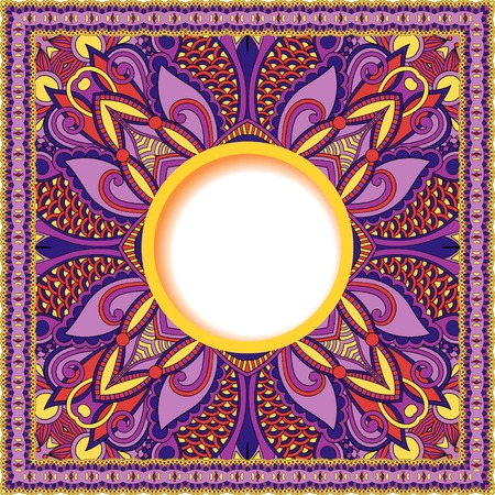 batik motif: decorative pattern of ukrainian ethnic carpet design with place for your text, abstract tribal frame border