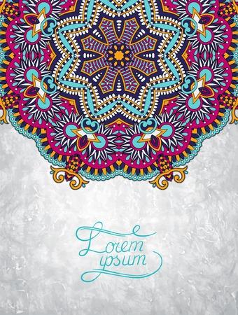 grungy background: flower design on grunge background