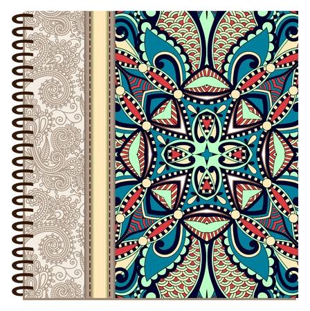 spiral notebook: design of spiral ornamental notebook cover Illustration