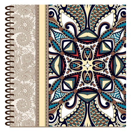 design of spiral ornamental notebook cover Vector