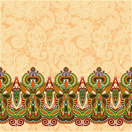 retro fashion: ornamental background with flower ribbon, stripe pattern, greeting card Illustration
