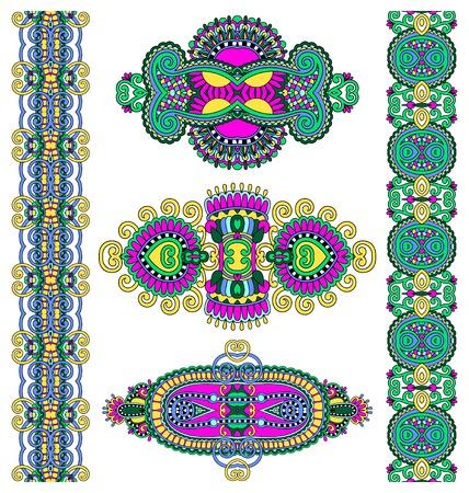 adornment: ornamentale decorativo etnico ornamenti floreali, illustrazione vettoriale