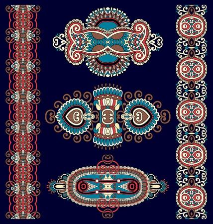ornamental decorative ethnic floral adornment, vector illustration Vector