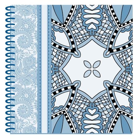 design of spiral ornamental notebook cover, vector illustration Vector