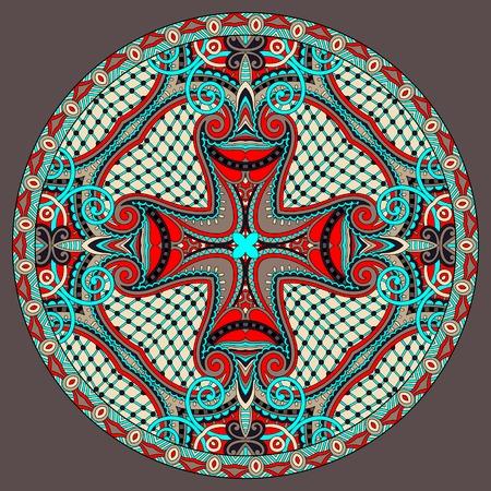 decorative design of circle dish template Illustration