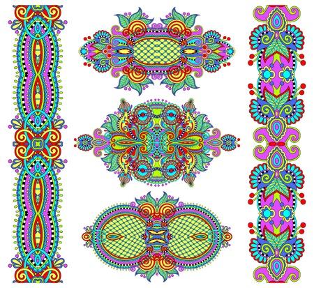 adornment: ornamental decorative ethnic floral adornment, vector illustration