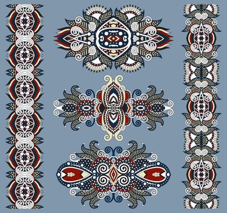 ornamental floral decorative ethnic adornment, vector illustration Vector