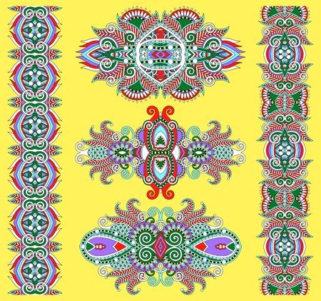 adornment: ornamental floral decorative ethnic adornment, vector illustration