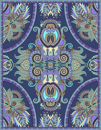 canvas print: dise�o de la alfombra floral ucraniano para impresi�n en lienzo o papel, estilo karakoko patr�n ornamental, ilustraci�n vectorial Vectores