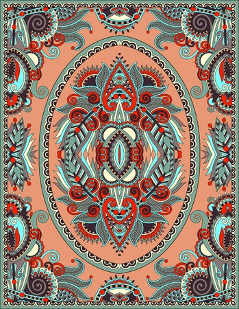 carpet texture: ukrainian floral carpet design for print on canvas or paper, karakoko style ornamental pattern, vector illustration