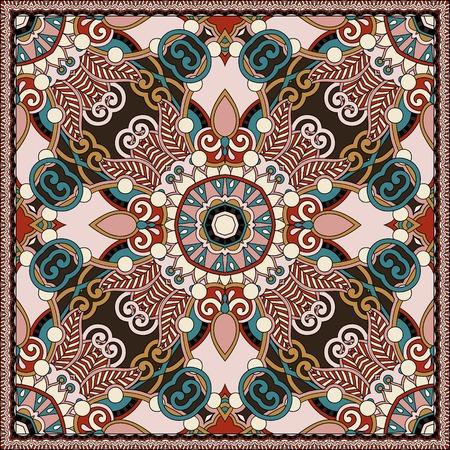 robo: bufanda de seda o patrón de diseño cuadrado pañuelo en estilo karakoko ucraniano para la impresión sobre tela.