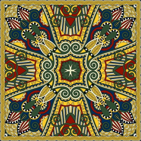 sarong: silk neck scarf or kerchief square pattern design